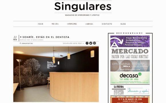 Foto 1 del artículo del Doctor Fernando de la Iglesia sobre Gracias a Singulares Magazine por el bonito post que nos han dedicado