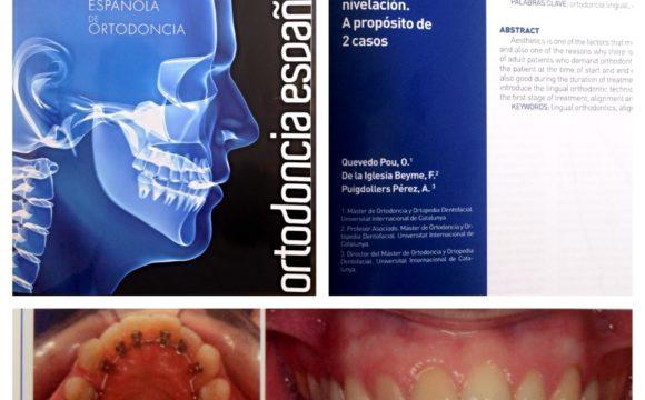 Foto 1 del artículo del Doctor Fernando de la Iglesia sobre Artículo Publicado en la Revista de la Sociedad Española de Ortodoncia