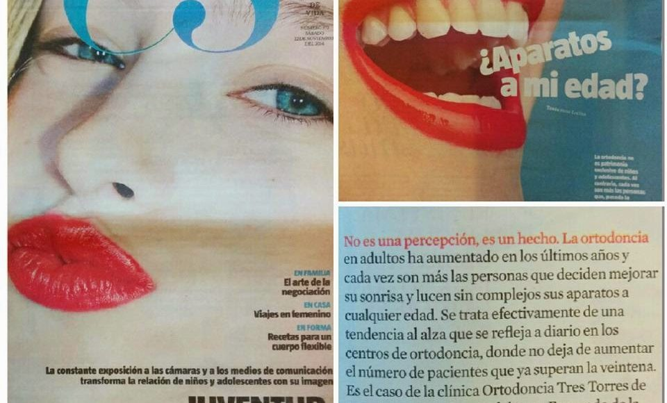 """Foto 1 del artículo del Doctor Fernando de la Iglesia sobre Ortodoncia Tres Torres en """"La Vanguardia"""""""