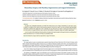Foto 1 del artículo sobre ortodoncia lingual y cirugía ortognática publicado en la revista Dental Science 2018