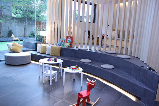 Orthodontics Sant Cugat clinic waiting room