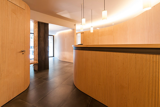 Orthodontics Sant Cugat clinic reception