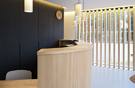 Orthodontics Tres Torres Barcelona clinic reception