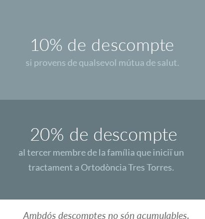 Ortodoncias Tres Torres descomptes