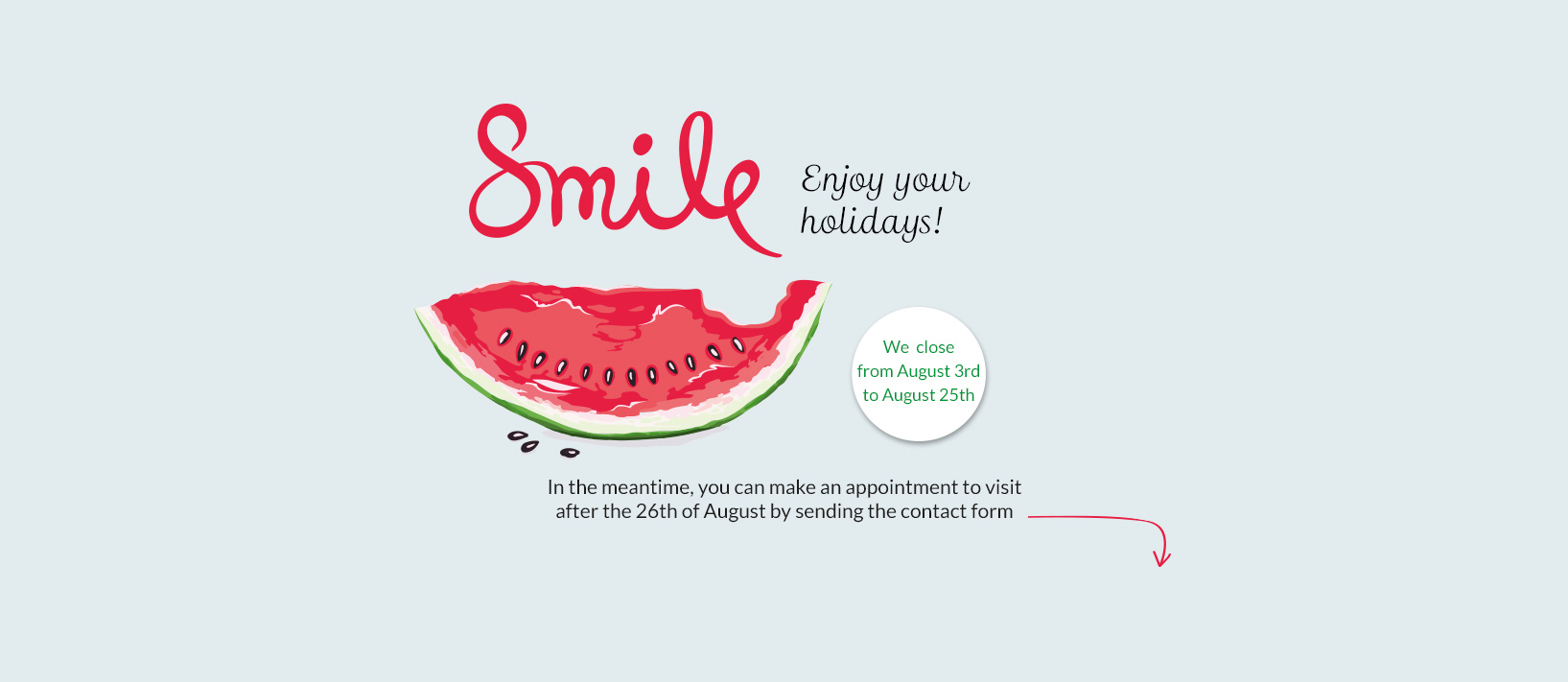 In ortodoncia tres torres clinica invisalign barcelona we closed for holidays from August 3 to 25, 2019