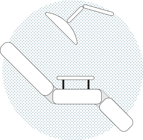 Illustration of a dentist armchair