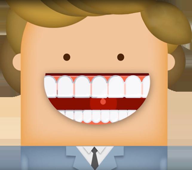 Il·lustració d'un pacient somrient